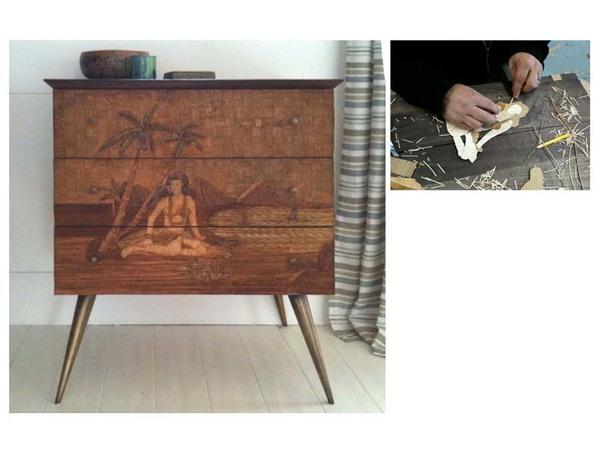 MJ Atelier Custom Reed Work Cabinet