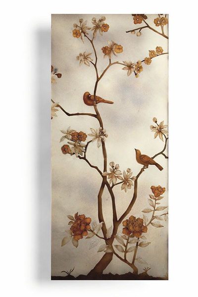 Verre Eglomise Chinoiserie panels
