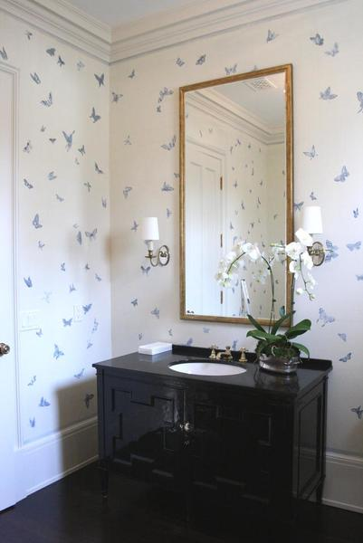 MJ Atelier hand painted butterfly wall covering