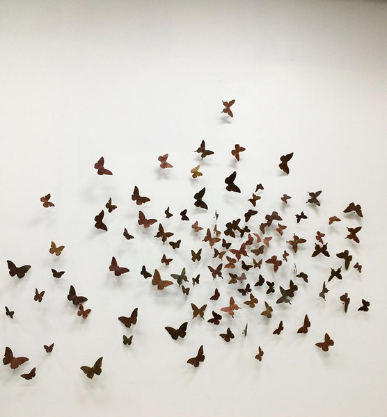 MJ Atelier kinetic butterfly installation