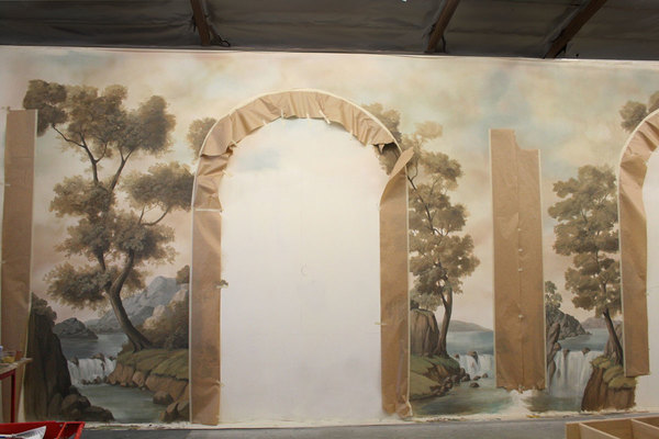 Hand painted large format mural