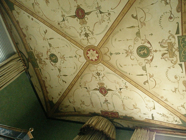Hand painted ceiling on canvas, Palos Verdes, CA